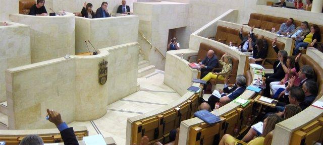 Votación del Parlamento en el Debate del Estado de la Región