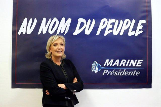 La líder del Frente Nacional francés, Marine Le Pen