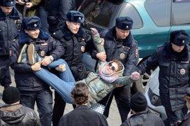 Más de 800 detenidos en la manifestación anticorrupción de Moscú