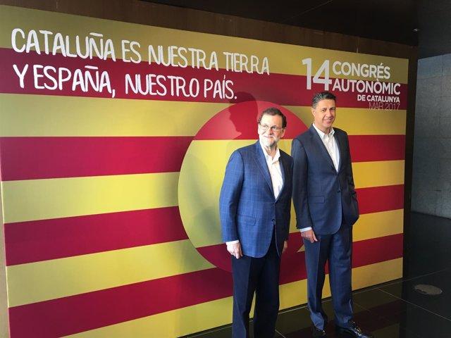 Mariano Rajoy y Xavier García Albiol (PP)