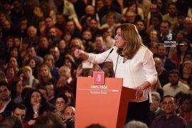 Susana Díaz rechaza el voto del rencor y promete no entregar el PSOE a otros