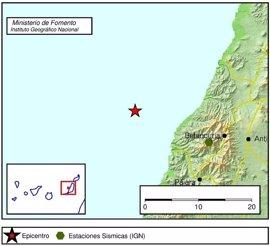Registrado un terremoto de magnitud 3.4 al oeste de Fuerteventura