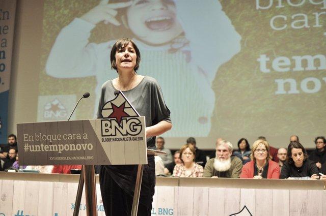 Ana Pontón en la asamblea nacional del BNG