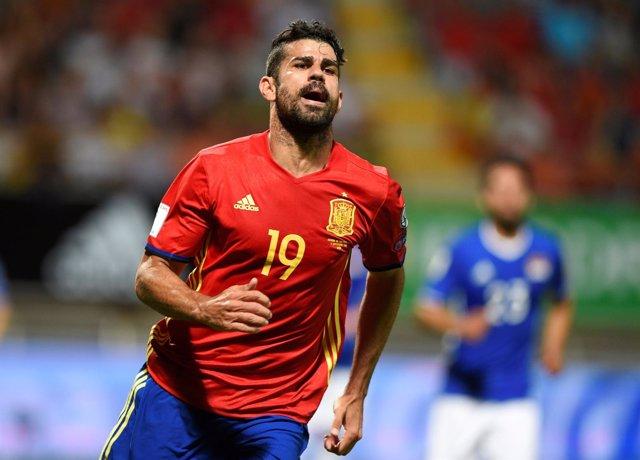 Diego Costa con la selección española frente a Liechtenstein