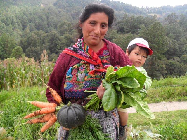 Mujer participante en un proyecto de cooperación en Guatemala