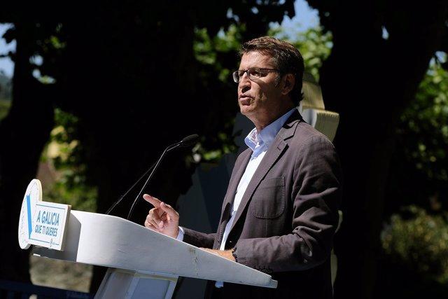 Alberto Núñez Feijóo en la junta directiva del PP de Lugo