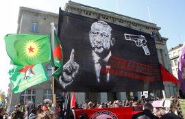 La Fiscalía suiza abre una investigación por los llamamientos a matar a Erdogan en una manifestación en Berna
