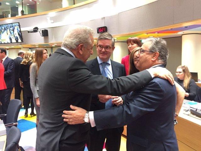 Zoido en la reunión del Consejo de Ministros de la UE