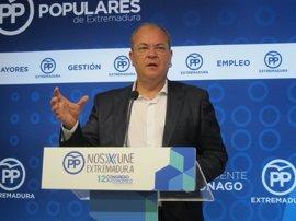 """Monago espera que el PSOE """"resuelva bien"""" la elección de líder, porque """"no genera confianza la división"""""""