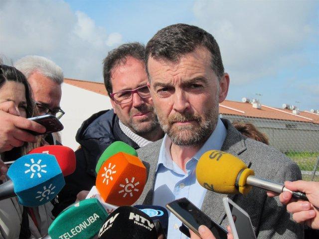 Antonio Maíllo, en Huelva.