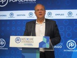 """Monago se marca como objetivo que el PP sea """"útil desde la oposición"""" para """"ser útil desde el gobierno"""" en 2019"""