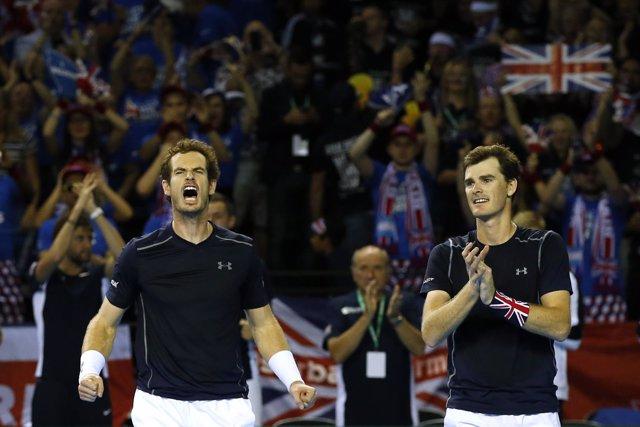 Andy y Jamie Murray en la Copa Davis
