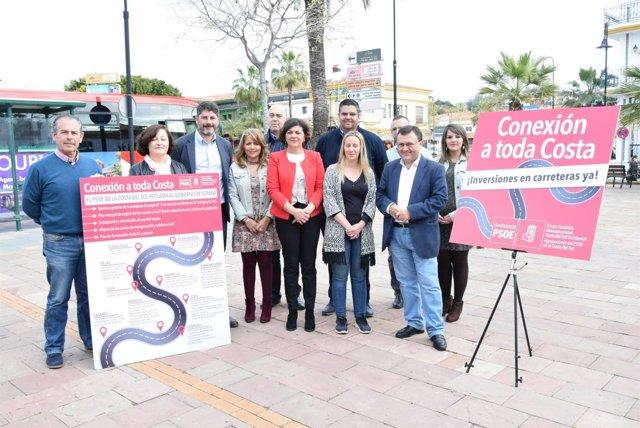 Psoe Heredia Lima Mijas apoyo piden mejoras autovía A-7 mijas málaga