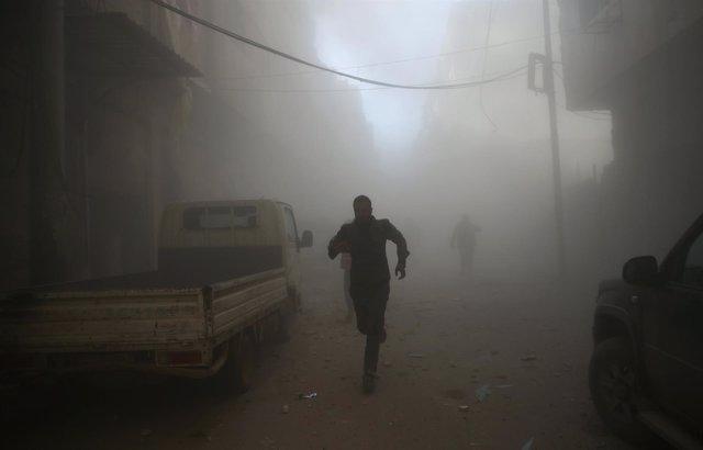 Bombardeo en Douma, Damasco