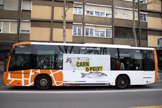 El autobús circulará con una imagen de una campaña contra la homofobia