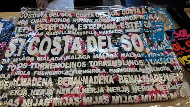 Bolso intervenido falsificado en Málaga