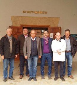 Visita de representantes del Gobierno de Aragón a Alloza (Teruel)