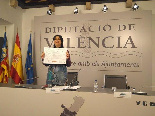 Rosa Pérez durante la rueda de prensa