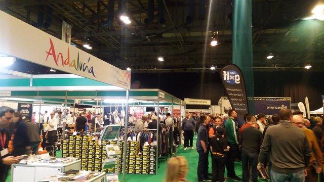 Feria del turismo en Glasgow en Escocia.