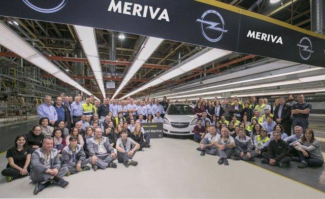 La planta de Figueruelas se despide del Opel Meriva.