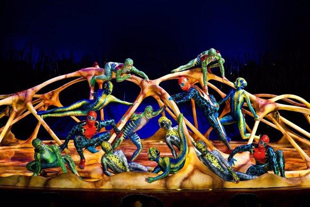 Un momento del espectáculo 'Totem' de Cirque du Soleil