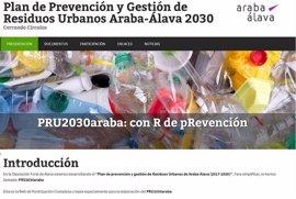 Diputación invita a los alaveses a hacer sus aportaciones al nuevo Plan de Prevención de Residuos