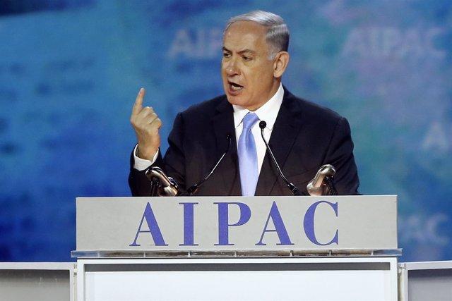 El primer ministro israelí, Benjamin Netanyahu, ante el AIPAC