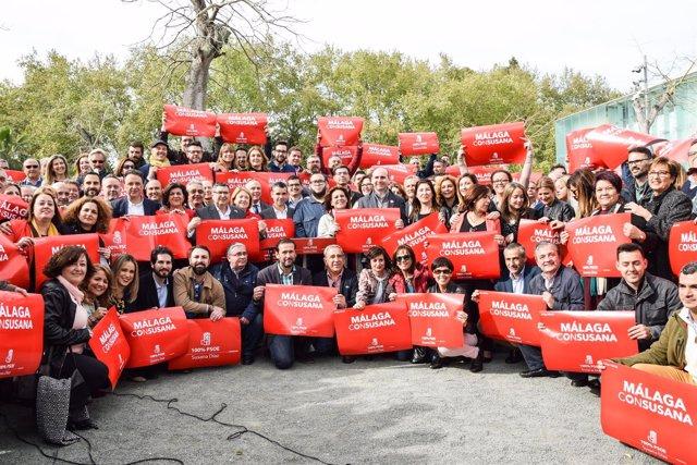 Grupo de apoyo a Susana Díaz en Málaga