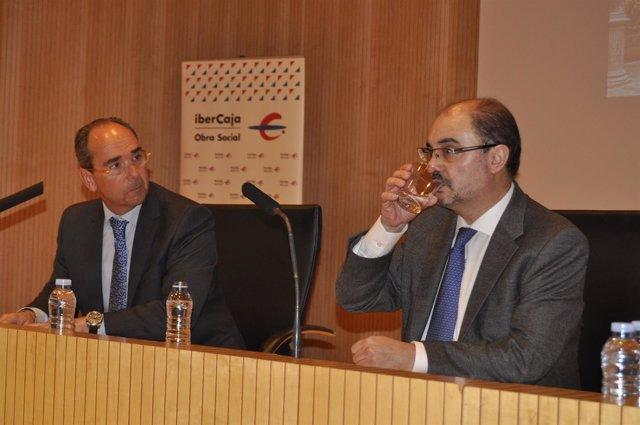 José Ignacio Oto y Javier Lambán