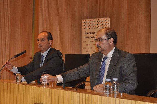 El presidente de Aragón, Javier Lamban