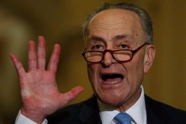El portavoz demócrata en el Senado estadounidense, Chuck Schumer