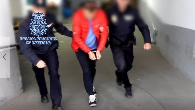 El detenido por la Policía en Alicante