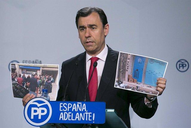 """Maillo tacha de """"salvajada"""" el asalto a la sede del PPC"""