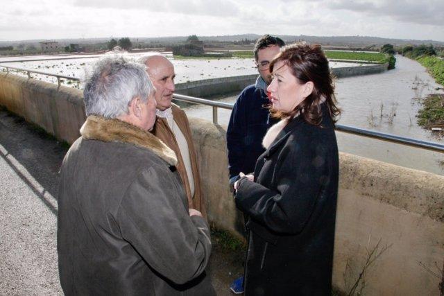 La presidenta Armengol visita la zona de inundaciones