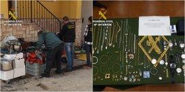 Cae un clan familiar con cuatro detenidos por robar en talleres y empresas de construcción
