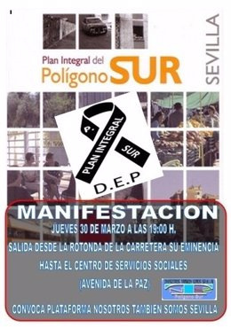 Cartel de la nueva manifestación.