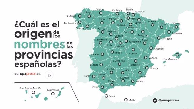 Cul es el origen de los nombres de las provincias espaolas