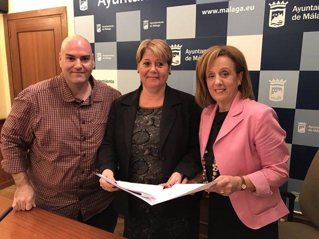 María del Carmen Moreno Sergio Brenes y Begoña Medina PSOE málaga ayuntamiento