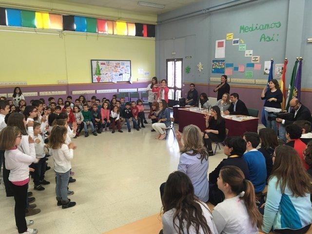 Actos de la III Semana Escolar con Miguel Hernández y Josefina Manresa.