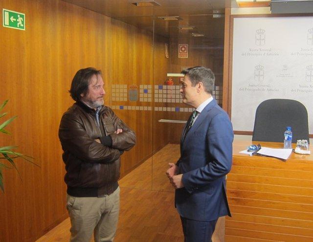 El diputado  del PP, Pedro de Rueda, y el presidente de Faspyc, Pedro García.