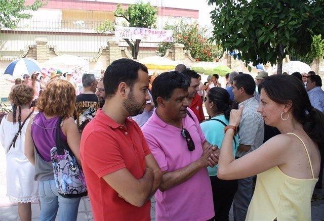 Protesta de la AMPA del CEIP Arias Montano.