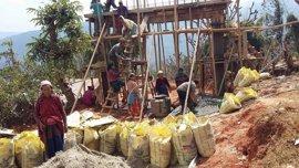 'Mountaineers for Himalayas' de Edurne Pasaban concluye la reconstrucción de Dhola, en Nepal
