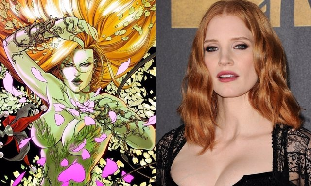 Jessica Chastain y Hiedra Venenosa de Gotham City Sirens