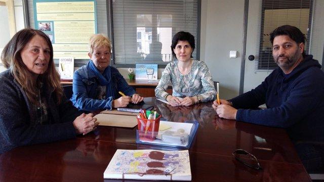 Imagen de la reunión de Cort con la Ampeb