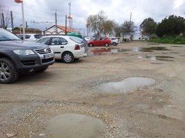 Campaña del alcalde de Tocina en las redes sociales para exigir el arreglo del parking de la estación de tren