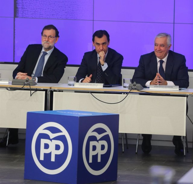 Mariano Rajoy, Fernando Martínez Maillo y Javier Arenas