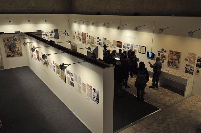 La muestra 'Orwell toma café en Huesca' se puede visitar en el Museo de Huesca