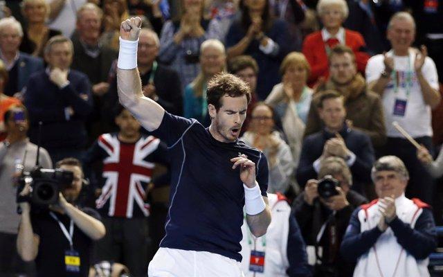 Andy Murray, con Gran Bretaña, en la Copa Davis