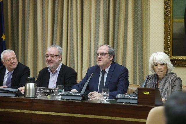 Angel Gabilondo en el Congreso de los Diputados