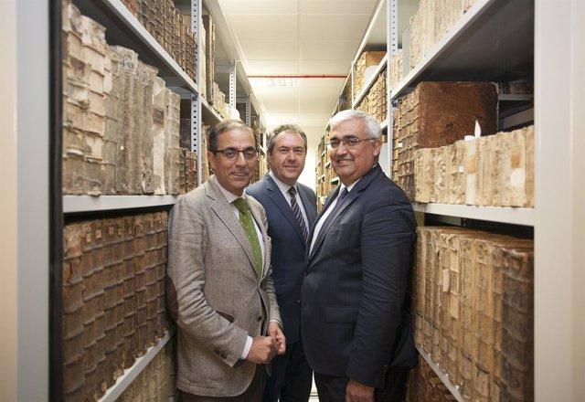 Miguel Ángel Castro, Juan Espadas y Antonio Ramírez de Arellano